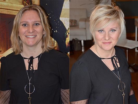 Relooking visage Sigrid Vincent avant/après